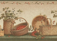 Baskets and Berries Wallpaper Border NRB4904