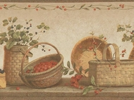 Baskets and Berries Wallpaper Border NRB4901