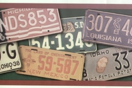 License Plates Wallpaper Border