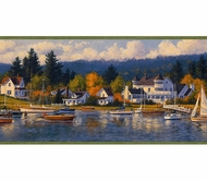 Sailboat Nautical Cove Wallpaper Border