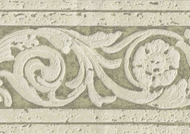 Scrolled Textured Architectural Wallpaper Border 93131