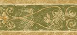 Architectural Scroll Wallpaper Border Green