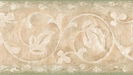 Floral Scroll Wallpaper Border
