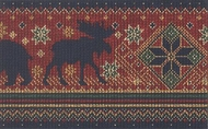 Bear Moose Knit Look Wallpaper Border