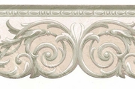Architectural Scroll Wallpaper Border NS71805DC