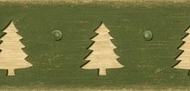 Pine Trees Cutouts Wallpaper Border CB089121b