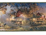 Evening Farmhouse Wallpaper Border