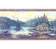 Lake Cabin Wallpaper Border