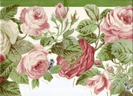 Scalloped Floral Wallpaper Border 682784