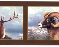 Ram, Moose, Elk Wallpaper Border HB112113b
