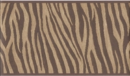 Brown Zebra Skin Wallpaper Border US004103