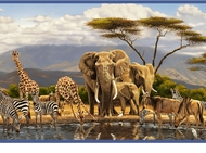 Gathering Place Jungle Animal Wallpaper Border GU92151b