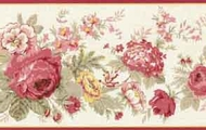 Waverly Floral Rose Wallpaper Border 5507100