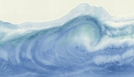 Ocean Waves Wallpaper Border RU8321b