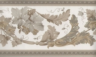 Decorative Floral Leaf Wallpaper Border KN73605
