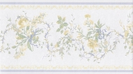 Blue Yellow Floral Miniprint Wallpaper Border 31616160