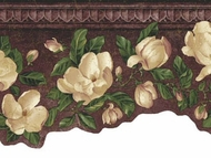 Magnolia Scalloped  Wallpaper Border CR061164b