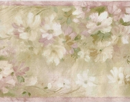 Watercolor Floral Wallpaper Border PP76572