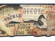 Fishing Lodge Wallpaper Border CB089191d
