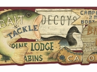Fishing Lodge Wallpaper Border CB089192d