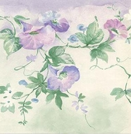 Morning Glory Vine Wallpaper Border MKB5082