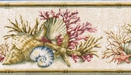 Seashells and Coral Wallpaper Border PB58011b