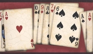Poker Playing Cards Wallpaper Border NW10001b