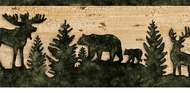 Bear Moose Silhouette Wallpaper Border LL50261b