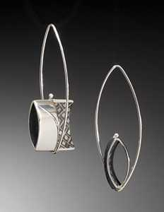 Half-Open Square Earrings