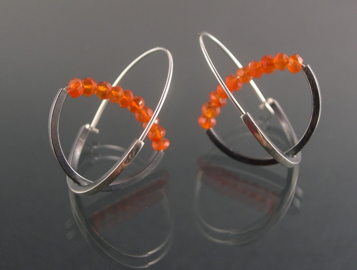 Double Arc Hoop - Carnelian