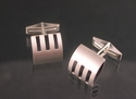Triple Cut-Out Cufflinks