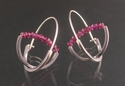 Double Arc Suspension Hoop- Grape Garnet