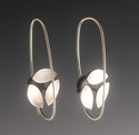 3 Leaf Circle Earrings