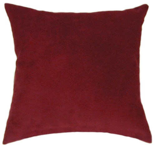 Wine Suede Throw Pillow