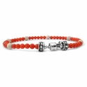 Red Coral Beaded Bracelets