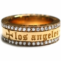 Ricketts Yard Los Angeles Band 22K Yellow Gold and Diamonds