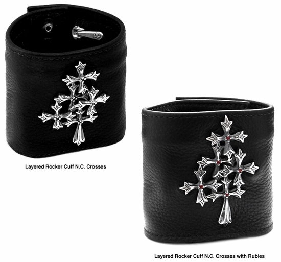 Layered Rocker Cuff N.C. Crosses