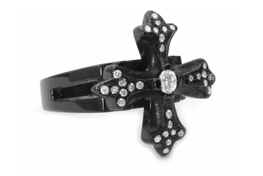 N.C. Cross Ring 18K Black Gold
