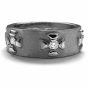 Seven Surly Band 18K White Gold