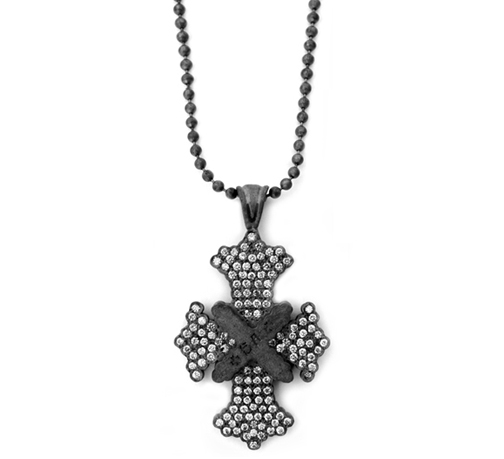 Dainty Syndicate Cross Pendant Pave Diamonds