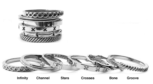 Kamilot Stack Rings Sterling Silver