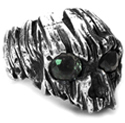 Cabrini Green Heavy Ring Green Sapphire Eyes