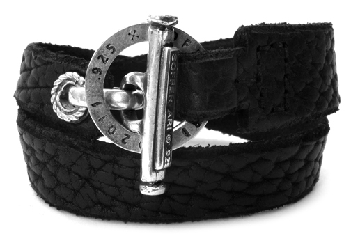 Duffy's Cut Double Wrap Leather Bracelet