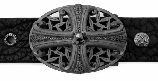 Lefty Rosenthal Buckle with Black Diamonds