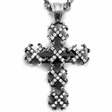 Mobsilver Medium O.G. Cross Pave Diamonds
