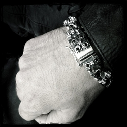 Perfect Collateral E.C. Cross Bracelet with Black Diamonds