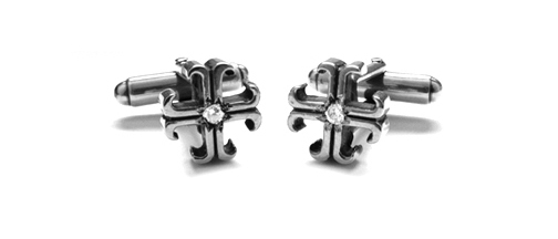 Small O.G. Badge Cufflinks with Lonely Diamonds