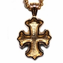 18K Gold Cemetery Now Pendant