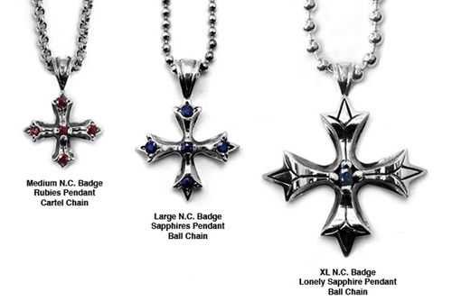 N.C. Badge Pendants