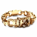 Cocaine Eyes Bracelet 22K Gold with Diamonds